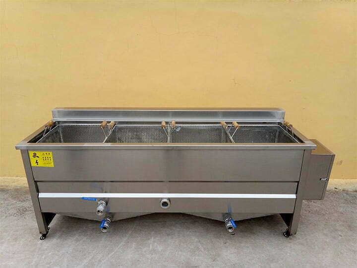 4-basket deep fryer machine