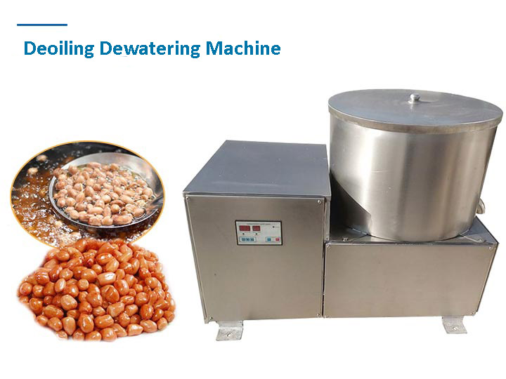 Snack food deoiling machine