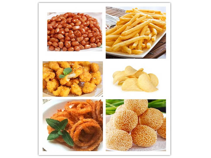 application of automatic snacks frying machine