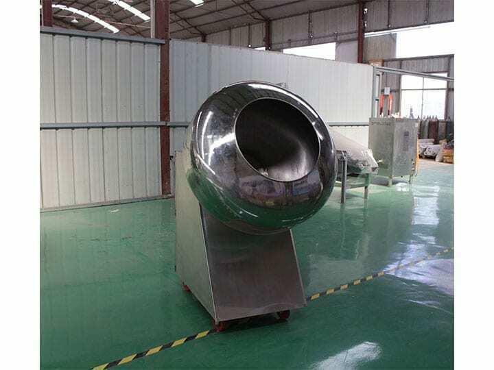 peanut coating machine in factory