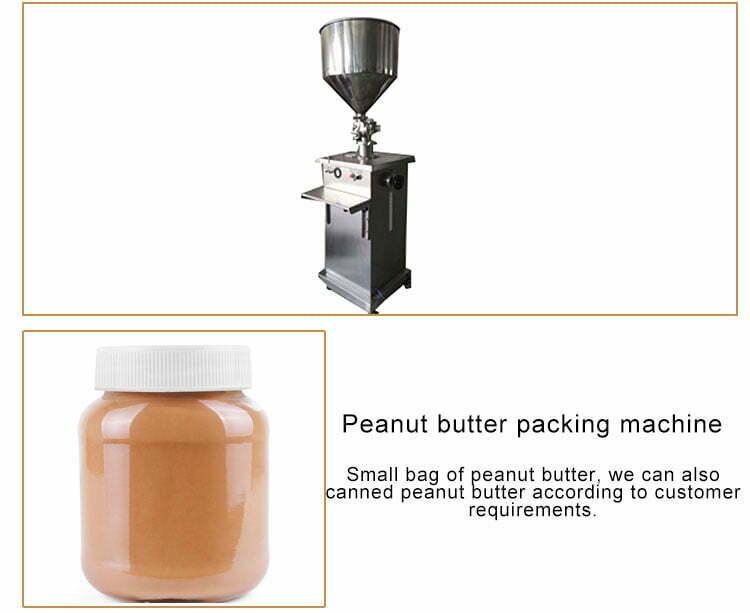 peanut butter filling machine