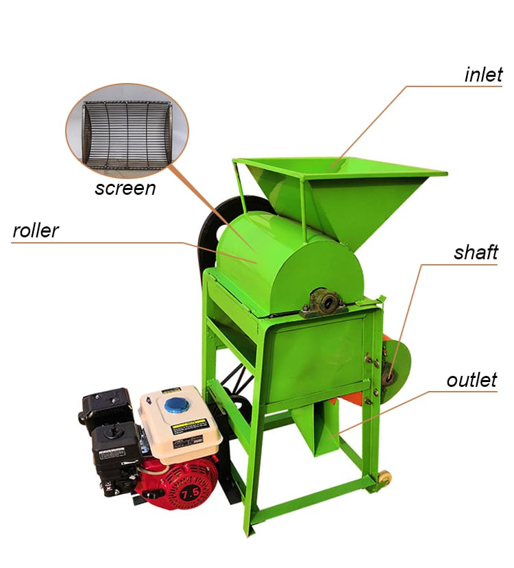 Structural Features of Peanut Shelling Machine