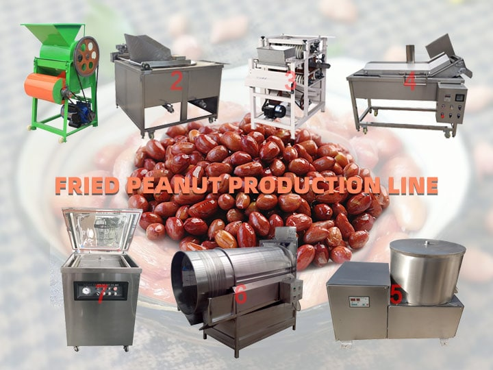 fried peanut production line