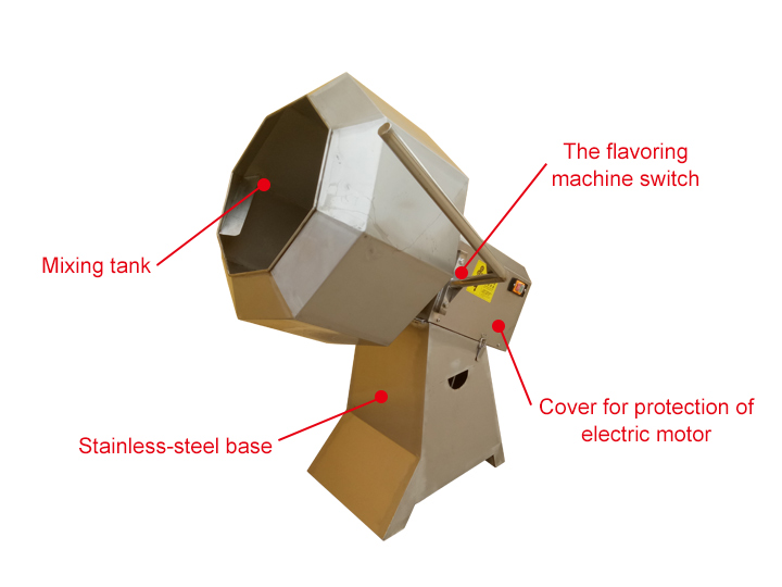 Main Parts of Fried Food Flavoring Machine