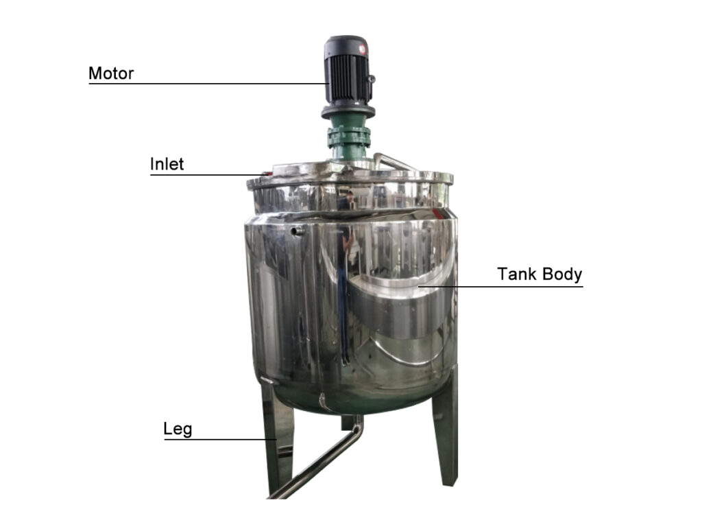 structure of peanut butter mixing tank