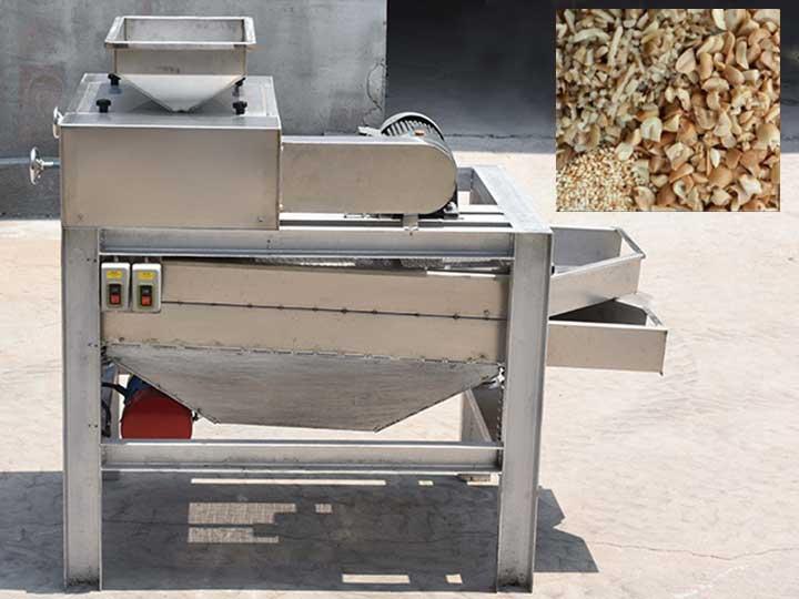 peanut cutter machine with chopped peanuts