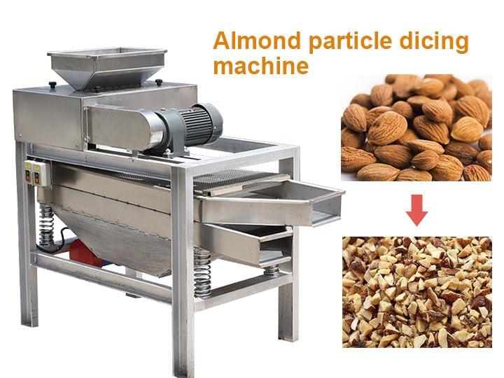 almond particle dicing machine