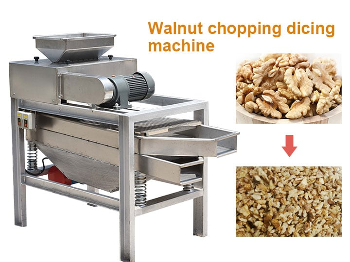 walnut chopping dicing machine