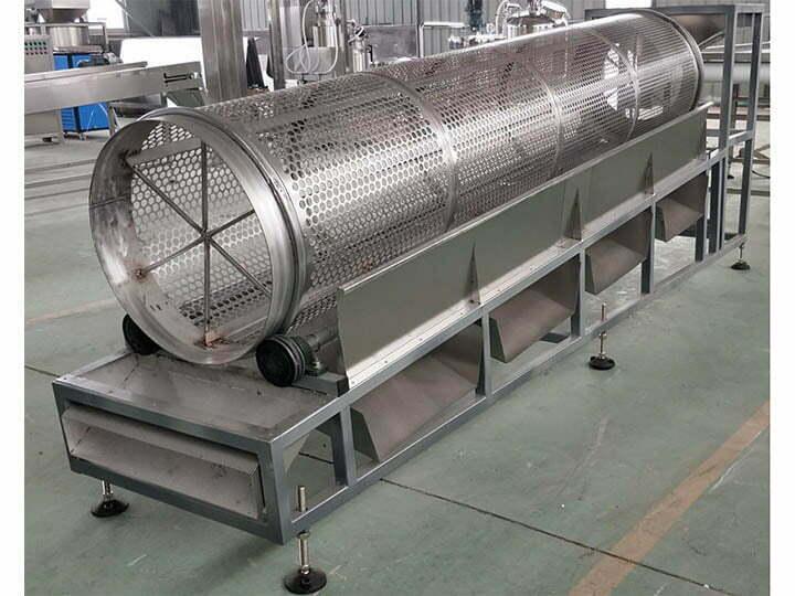Rotary sieving machine