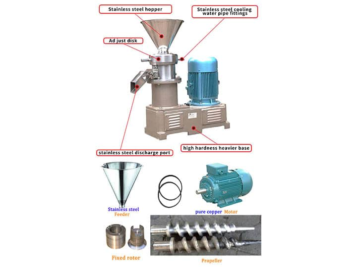 Cocoa nibs grinding machine details