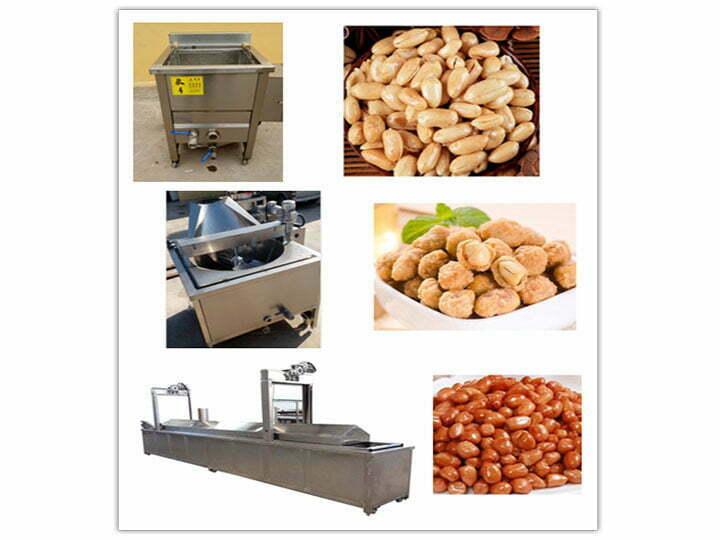 fried peanuts and peanut fryer machine