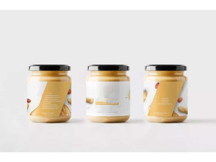 packed peanut butter with labels