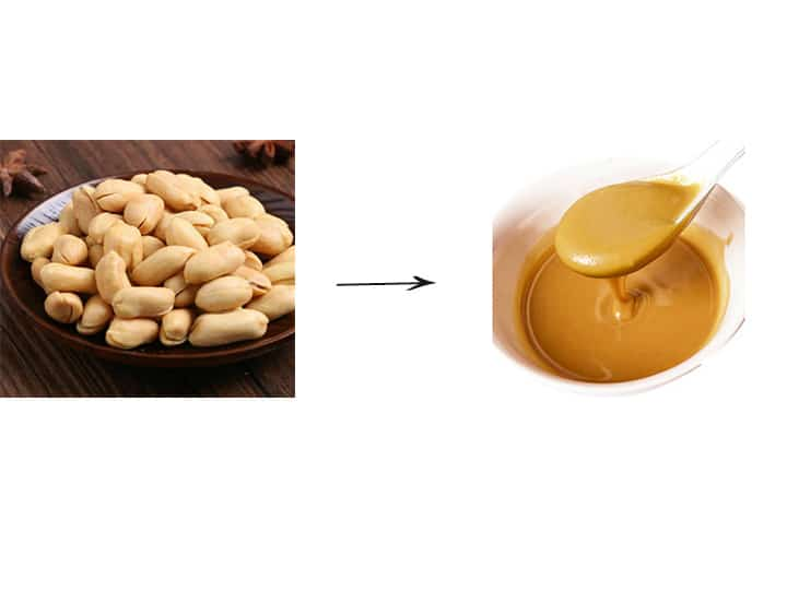 peeled peanuts and peanut butter
