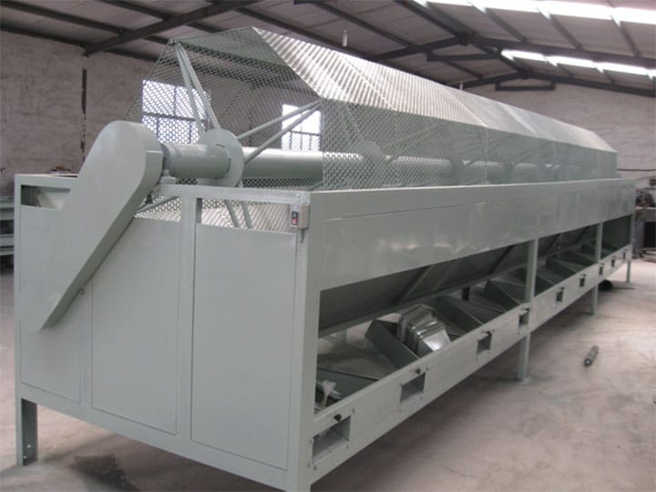 rotary drum almond grading machine