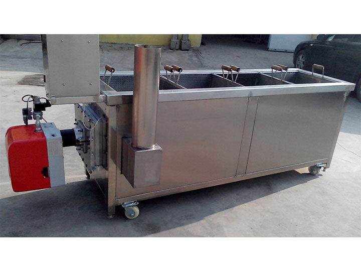4-basket deep fryer machine (gas type)