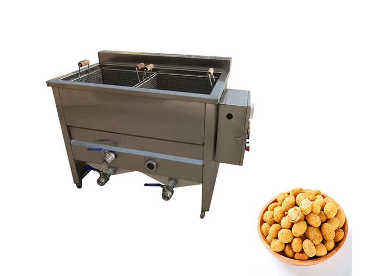 coated peanut frying machine